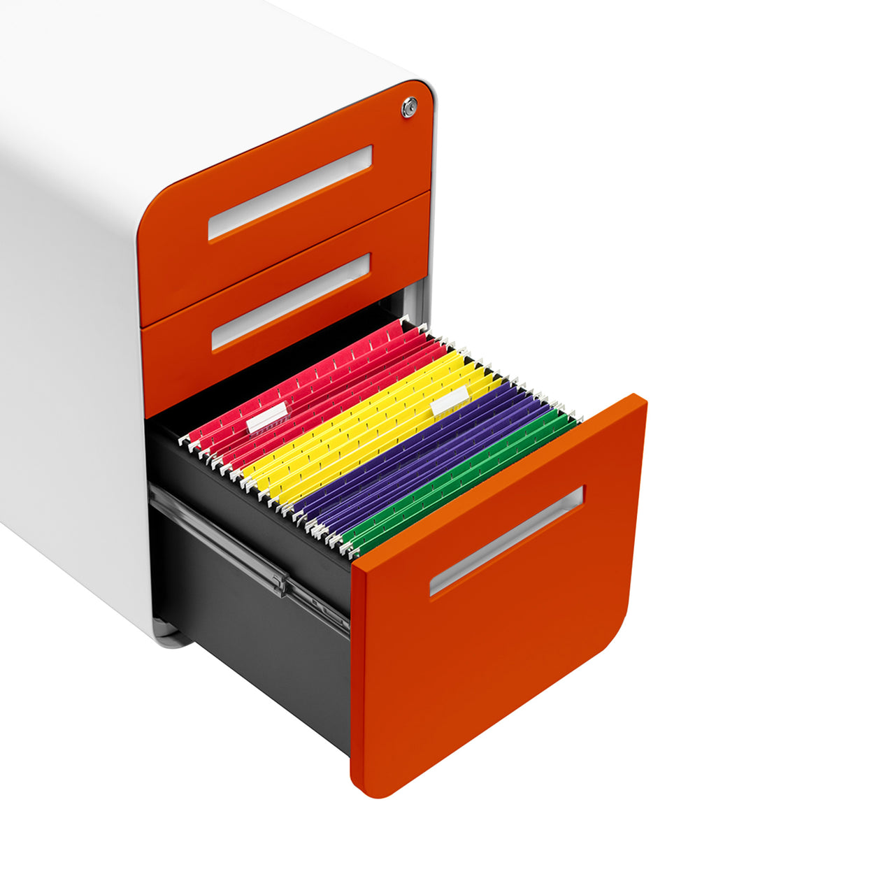 Stockpile Curve File Cabinet (Orange Faceplate)