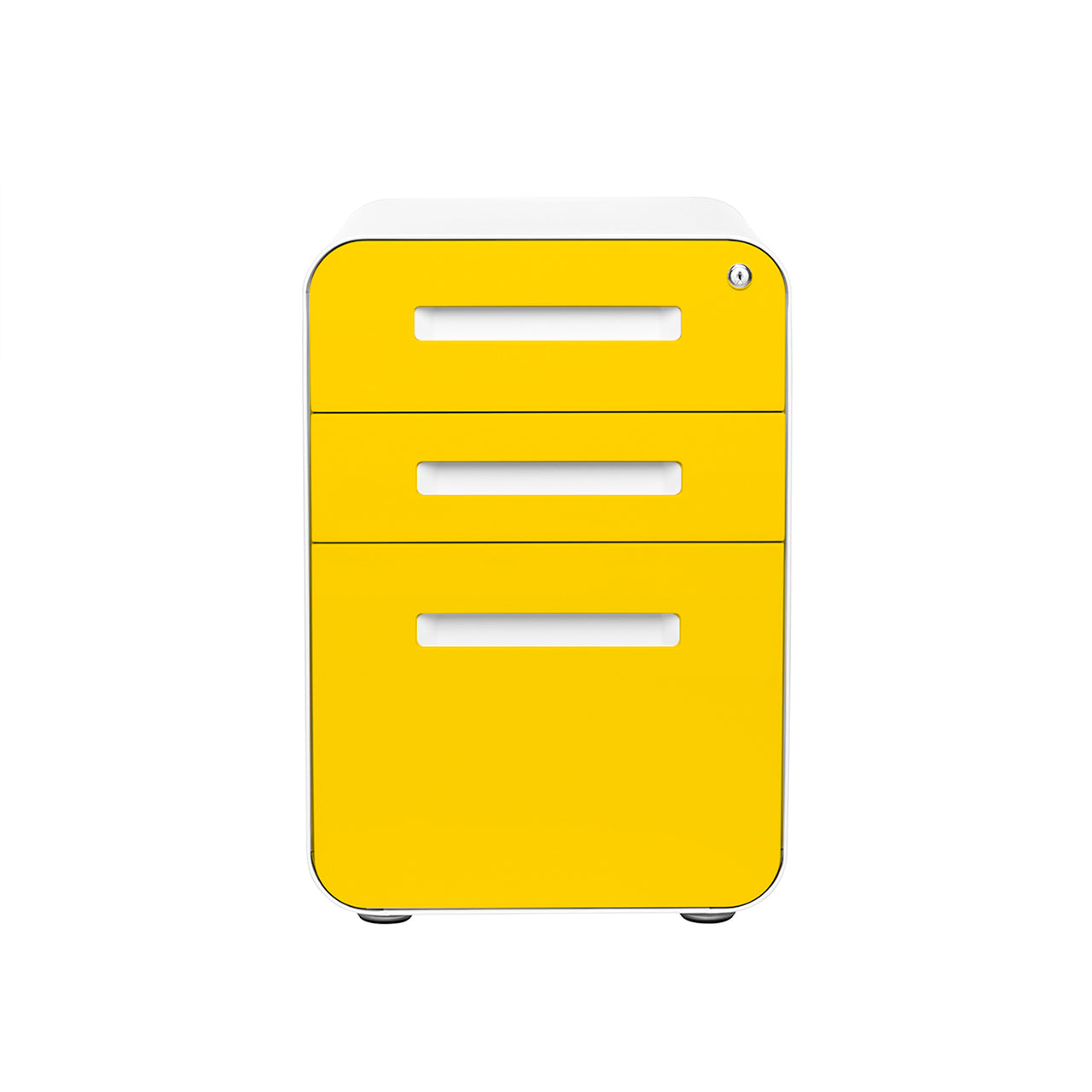 Stockpile Curve File Cabinet (Yellow Faceplate)