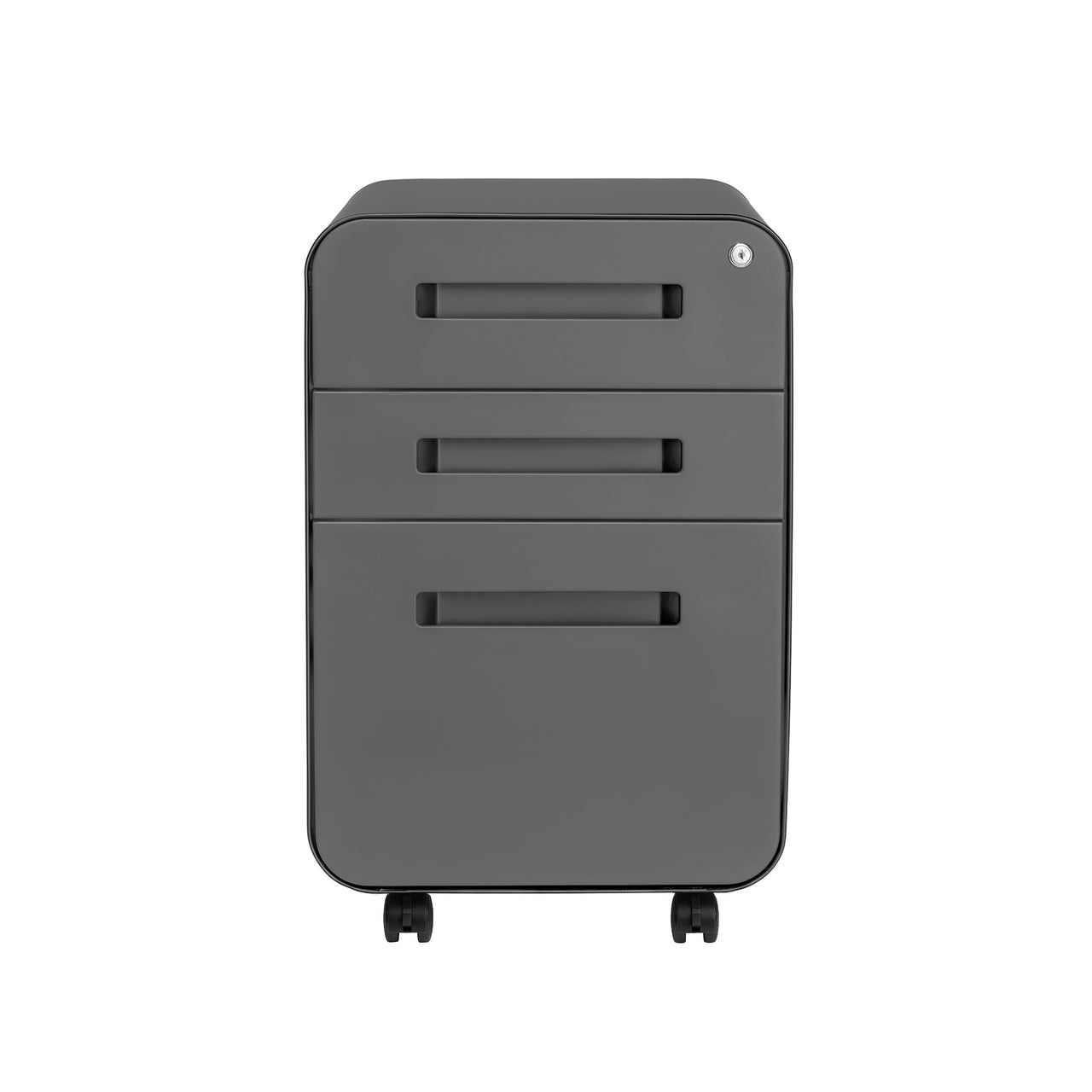 Stockpile Curve File Cabinet (Dark Grey)
