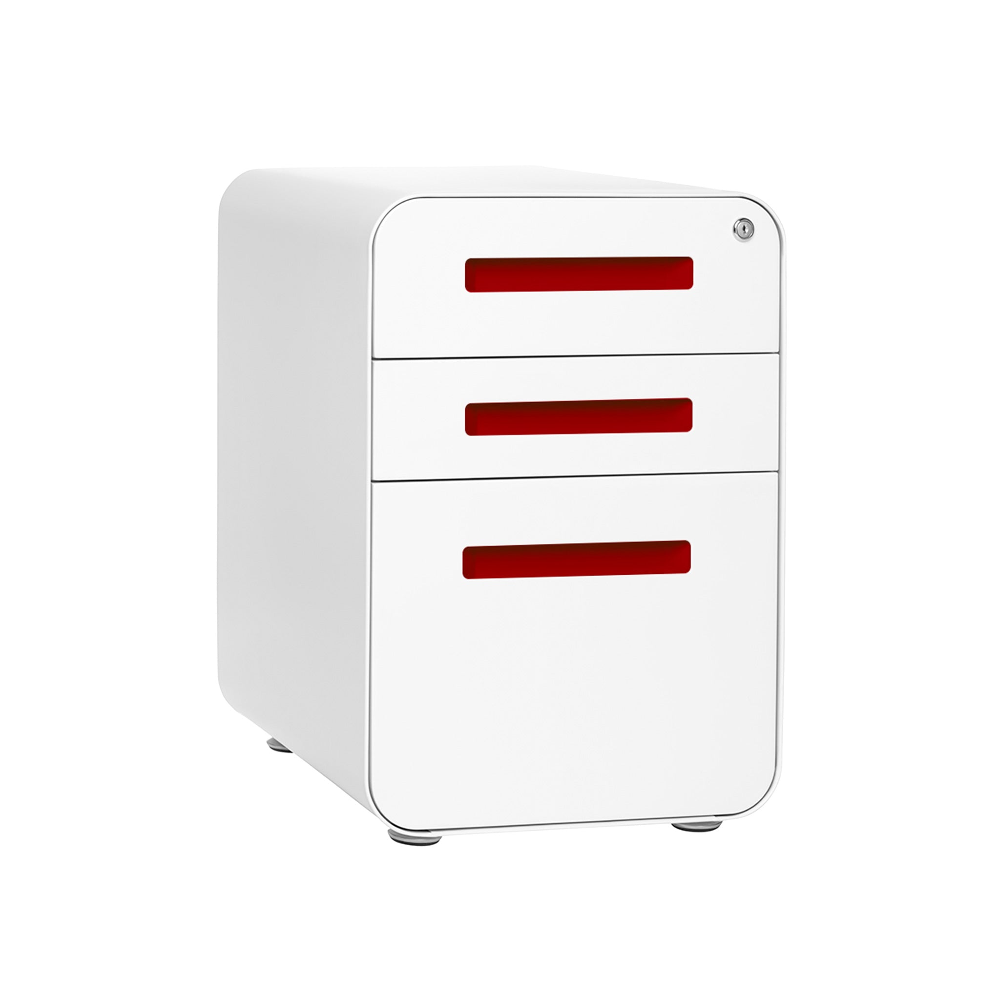 Stockpile File Cabinet (White/Red)