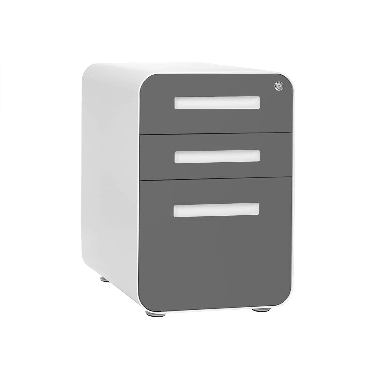Stockpile Curve File Cabinet (Dark Grey Faceplate)