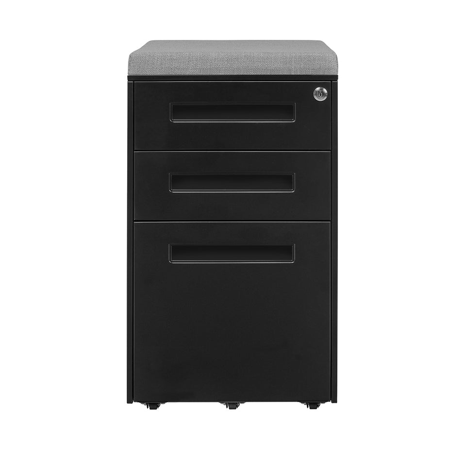 Stockpile Square Seat File Cabinet (Black)
