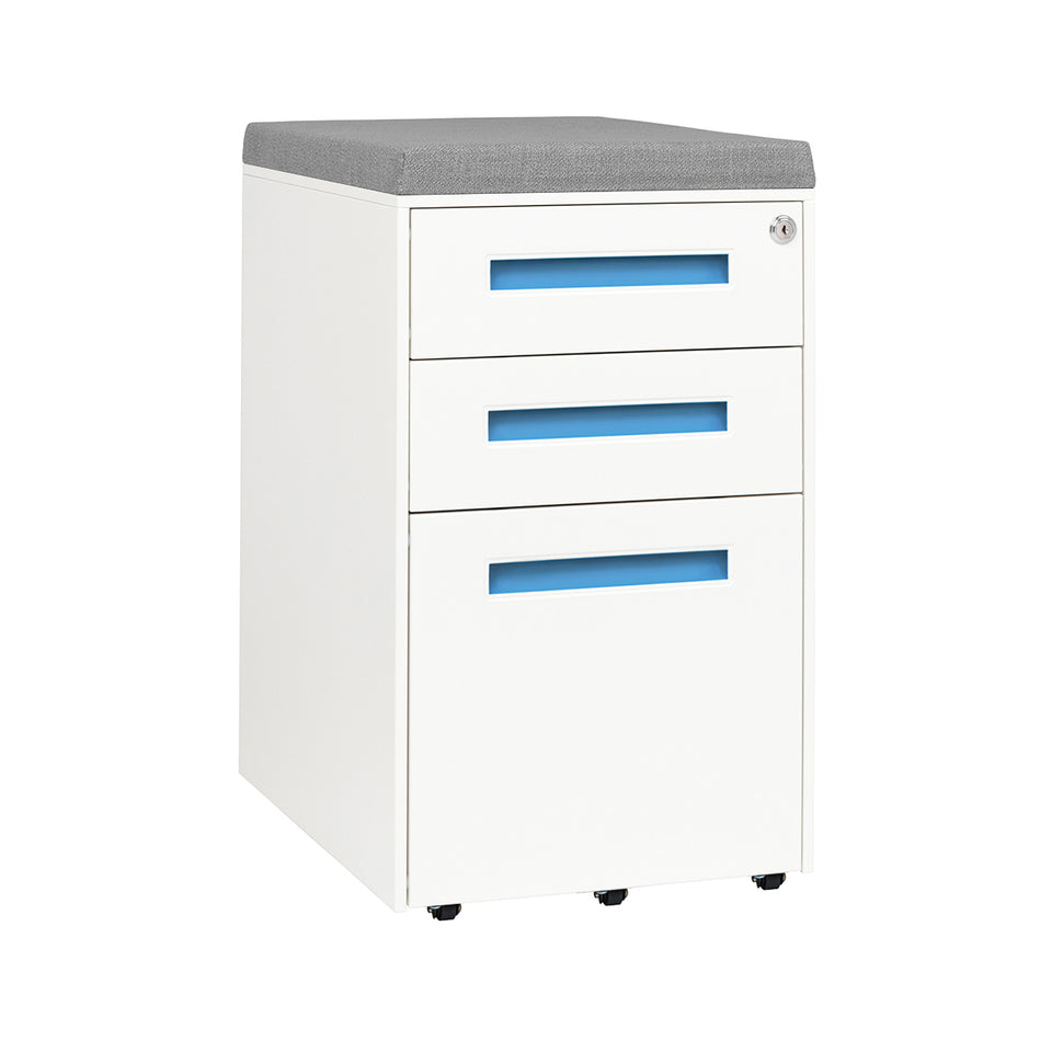 Stockpile Square Seat File Cabinet (Blue)