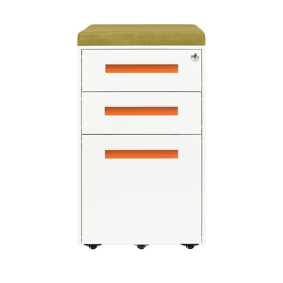 Stockpile Square Seat File Cabinet (Orange)