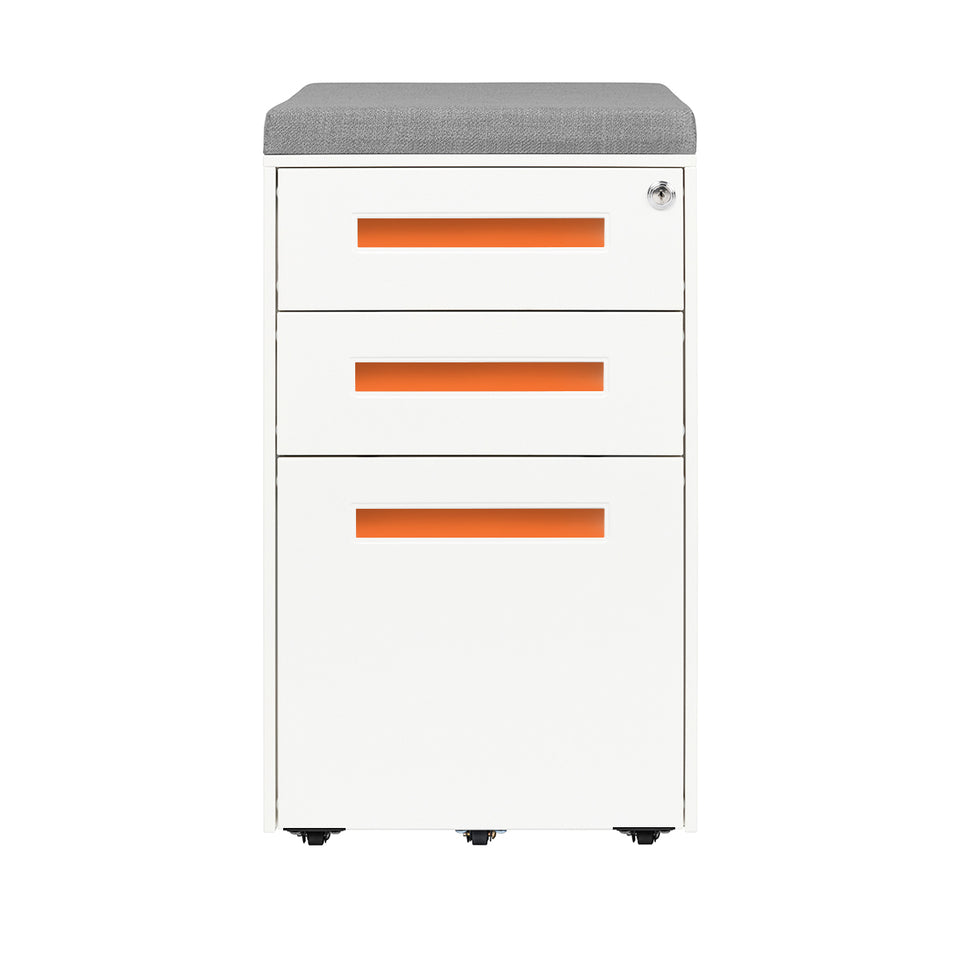 Stockpile Seat File Cabinet (Orange)