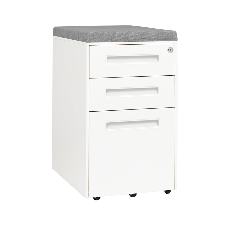 Stockpile Square Seat File Cabinet (White)