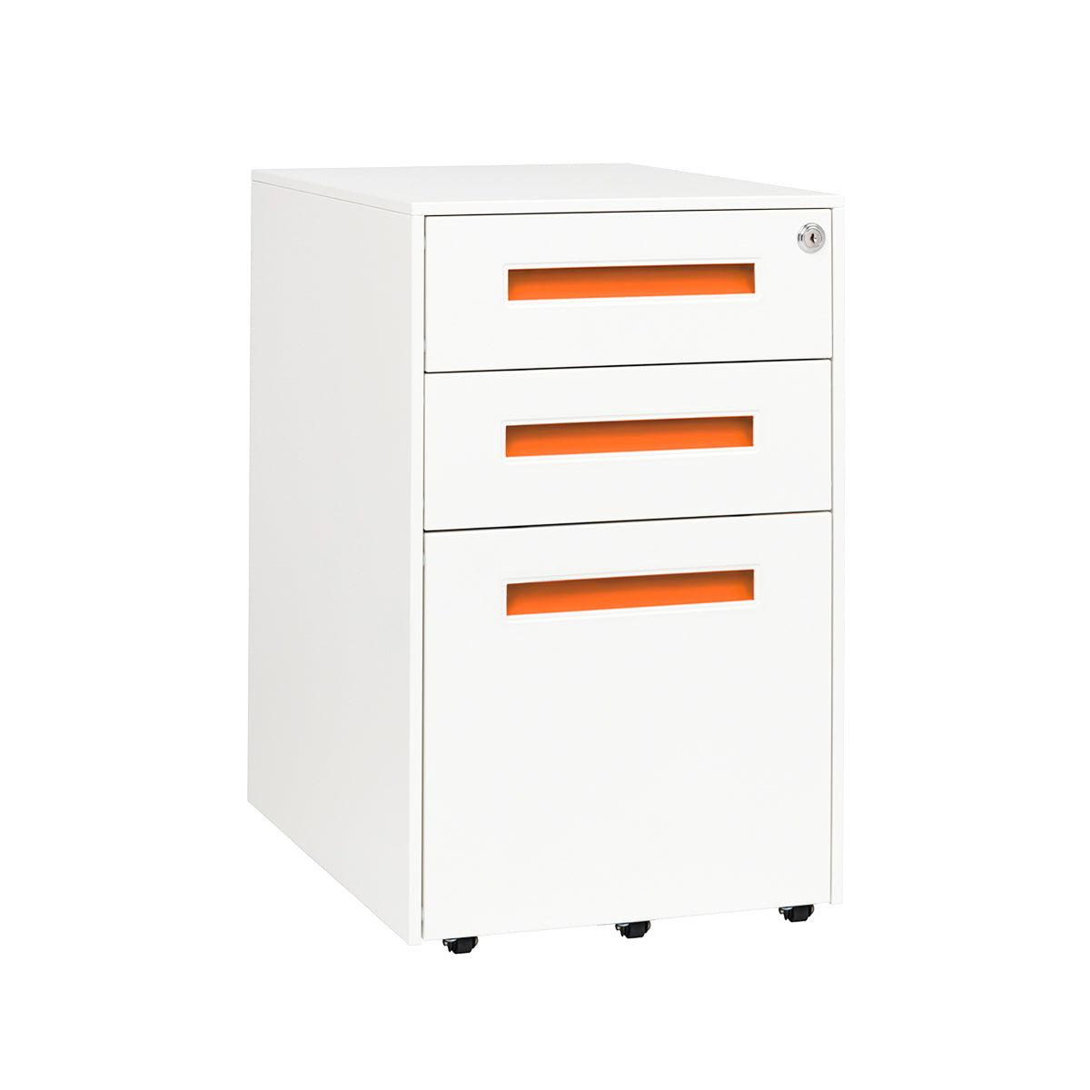 Stockpile Square File Cabinet (Orange)