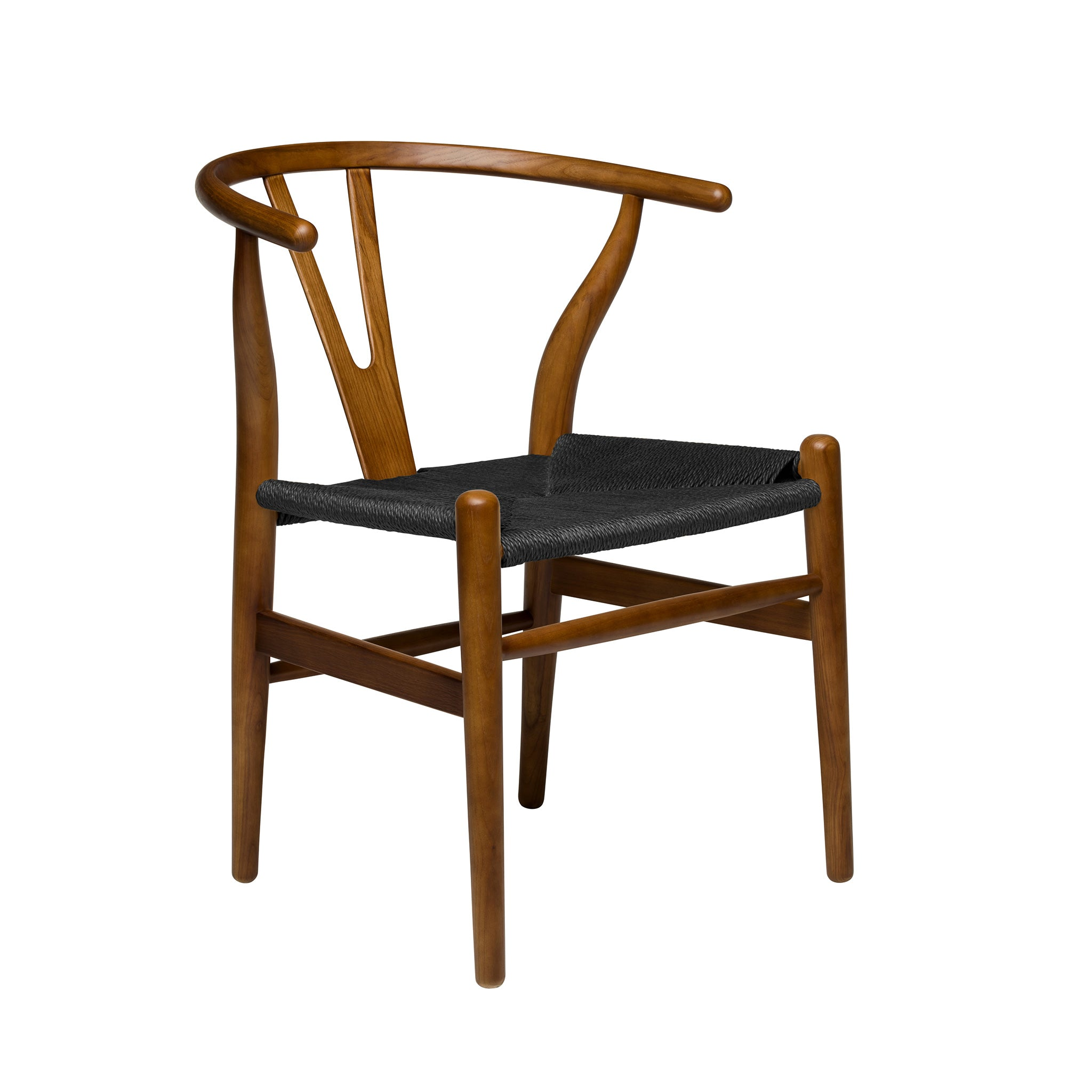 Wishbone replica chair walnut black cord jpgv1518500978