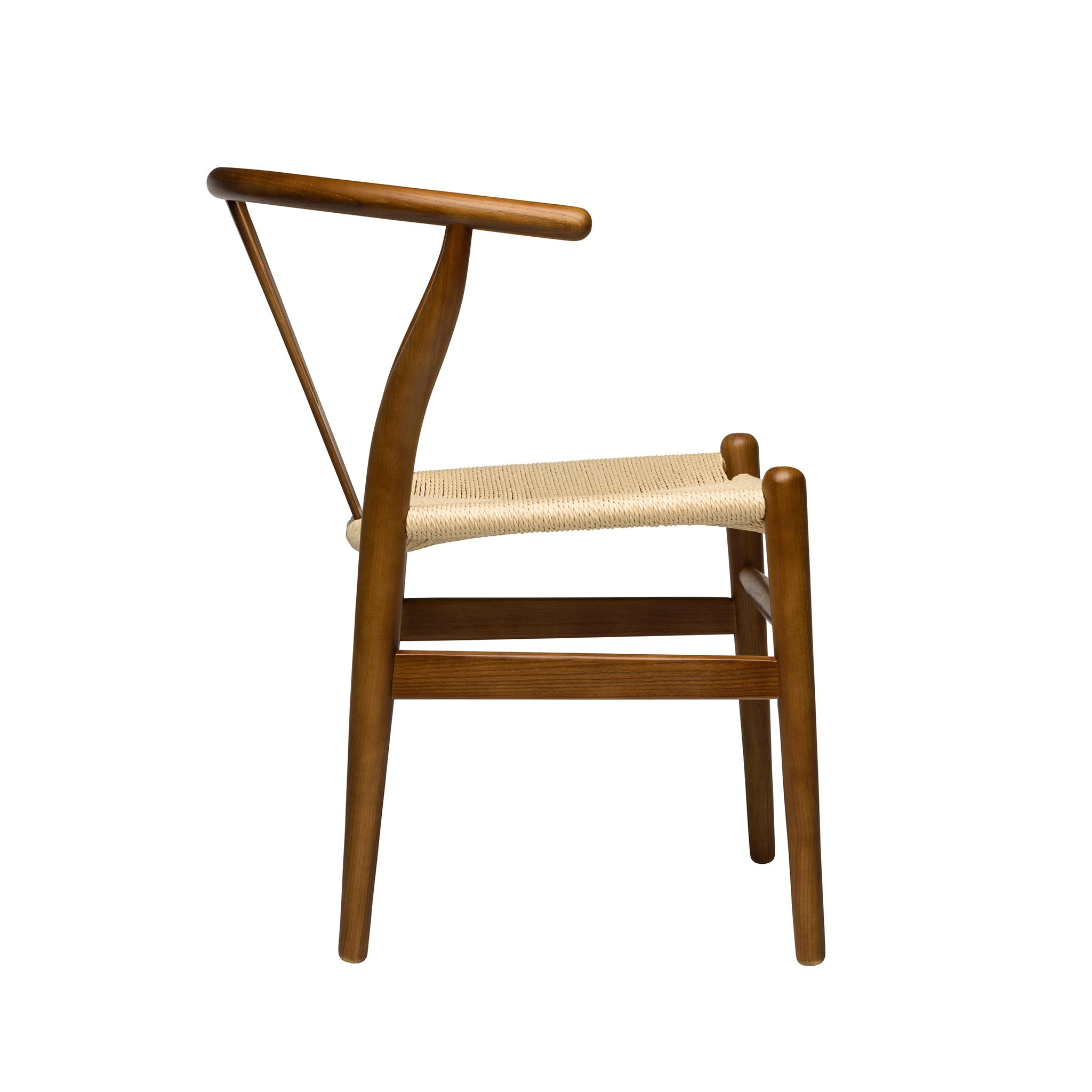 Wishbone chair walnut natural woven cord