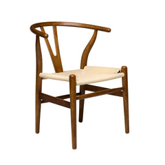 Wishbone Chair (Walnut/Natural Woven Cord) - SHIPS MAY 3RD