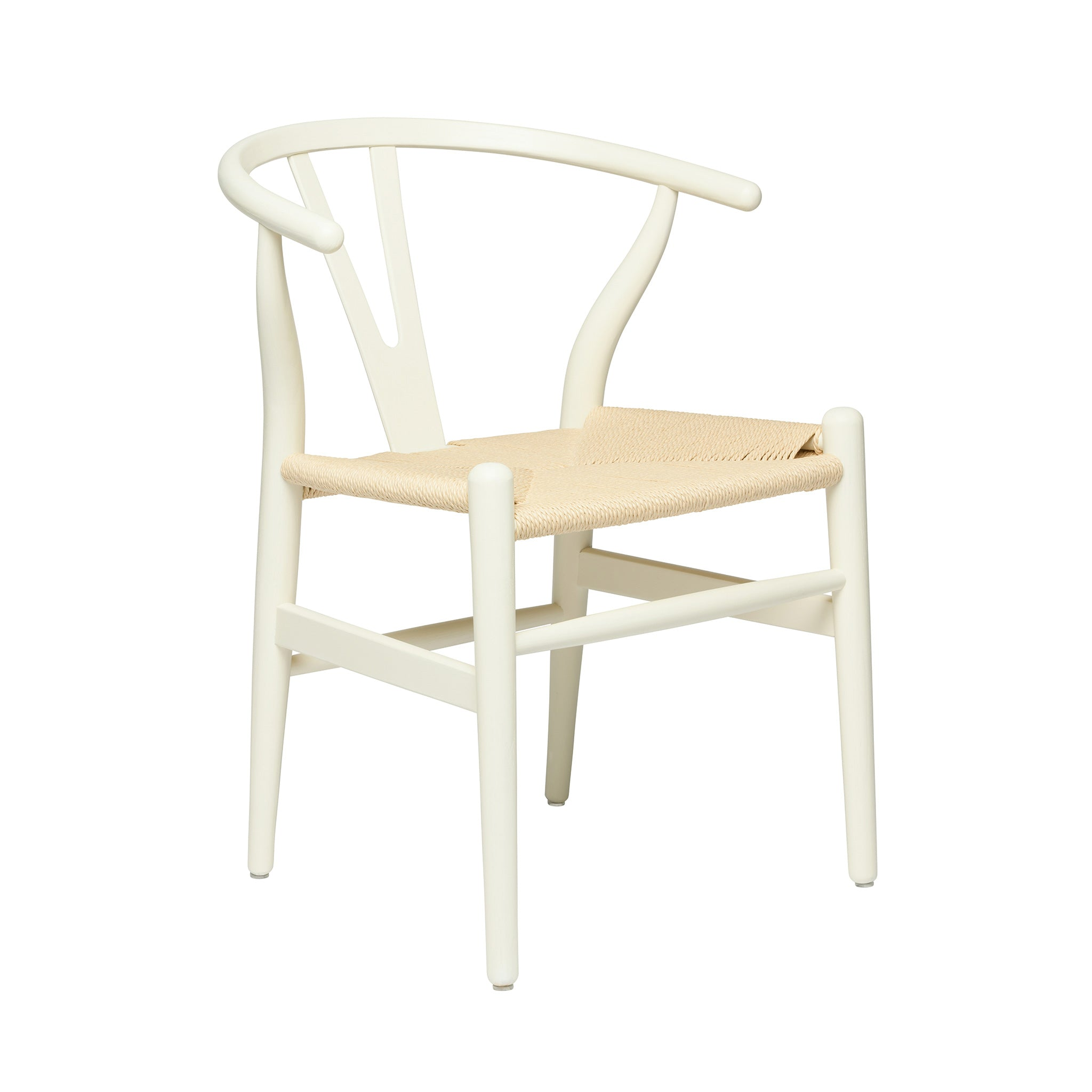 wishbone chair rustic white natural woven cord