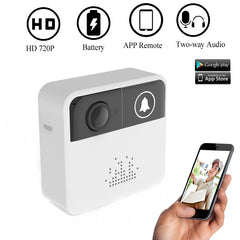 DAYTECH Draadloze Video deurbel Camera Deurbel Ring WiFi Camera Alarm Chime Kit Audio Remote APP Controle