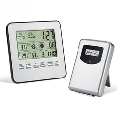 Draadloze Digitale LCD indoor/Outdoor Weer Thermometer Hygrometer Weerstation Wekker