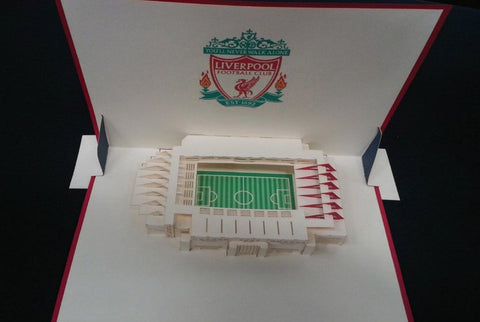 Liverpool FC Anfield Stadium pop up card - Henry Pop-Up Cards