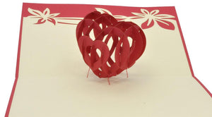 3D Heart - Henry Pop-Up Cards