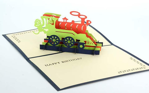 3D Train Happy Birthday - Henry Pop-Up Cards