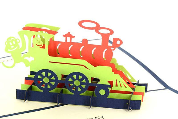 3D Train Happy Birthday