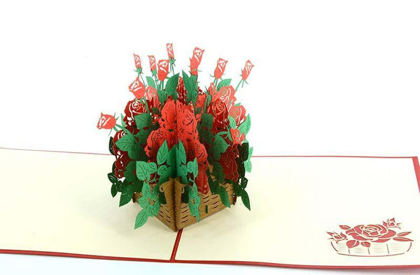 Basket of Roses 3D