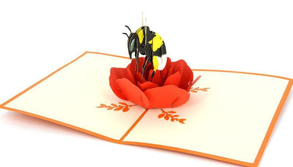 Bee on Rose - Henry Pop-Up Cards