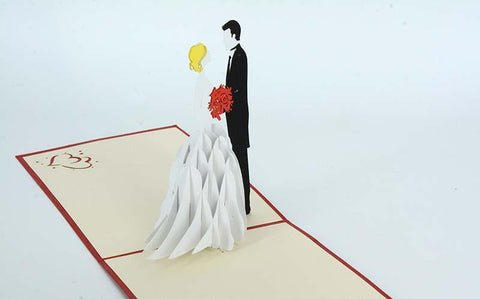 Blonde Bride and Groom - Henry Pop-Up Cards
