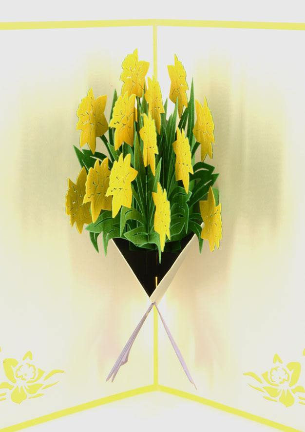 Bouquet of Narcissus - Henry Pop-Up Cards