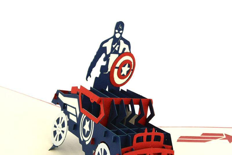 Captain America - Henry Pop-Up Cards