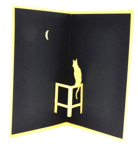 Cat and Moon - Henry Pop-Up Cards