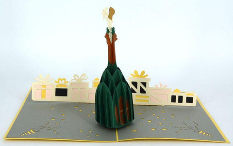 Champagne Bottle 3D - Henry Pop-Up Cards