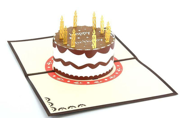 Chocolate cake Happy birthday - Henry Pop-Up Cards