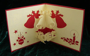 Christmas Bell - Henry Pop-Up Cards