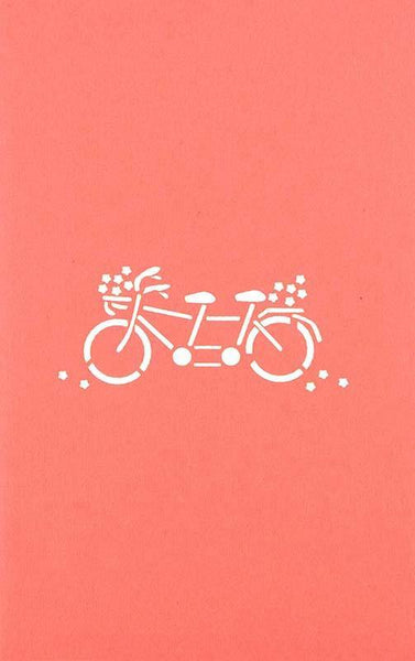 Couple on double Bike2 - Henry Pop-Up Cards