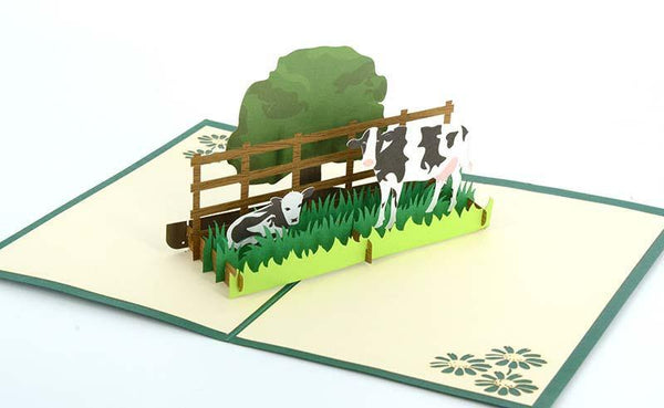 Cows 1 - Henry Pop-Up Cards