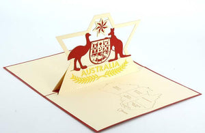 Emu and Kangaroo - Henry Pop-Up Cards