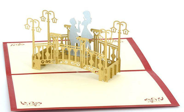 Proposing on Bridge - Henry Pop-Up Cards