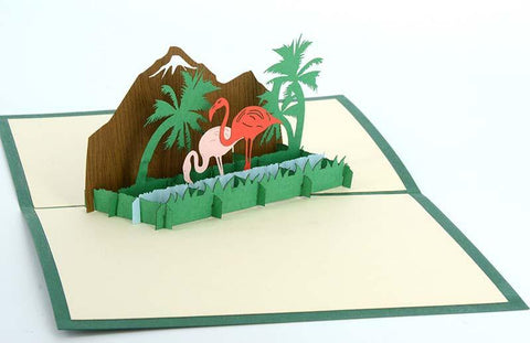 Two Flamingos - Henry Pop-Up Cards