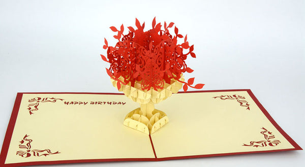 Flower 3D Happy Birthday