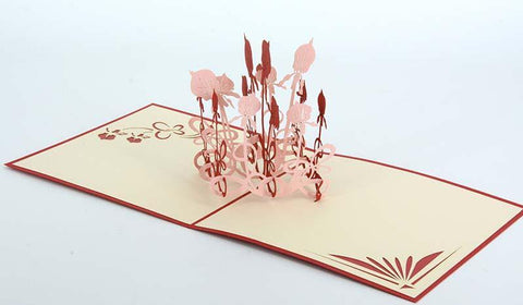 Flower1-Red - Henry Pop-Up Cards