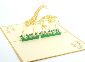 Giraffe Family - Henry Pop-Up Cards