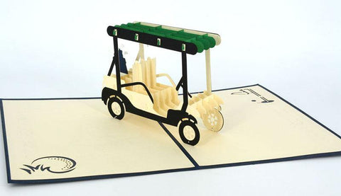 Golf Cart 3D - Henry Pop-Up Cards
