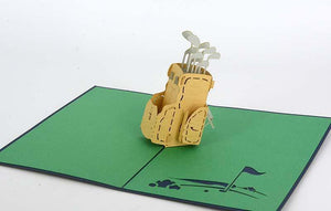 Golf  clubs - Henry Pop-Up Cards