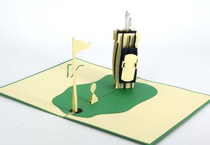Golf clubs and ball - Henry Pop-Up Cards