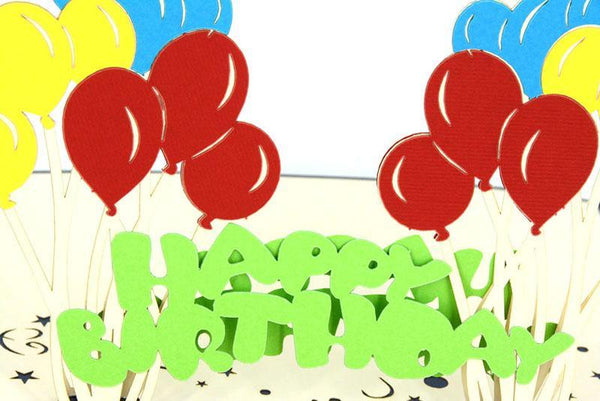 Balloons-Happy Birthday - Henry Pop-Up Cards