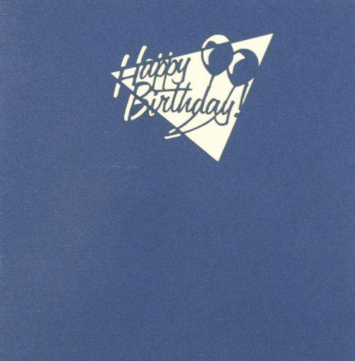 Happy Birthday Candles and Words - Henry Pop-Up Cards