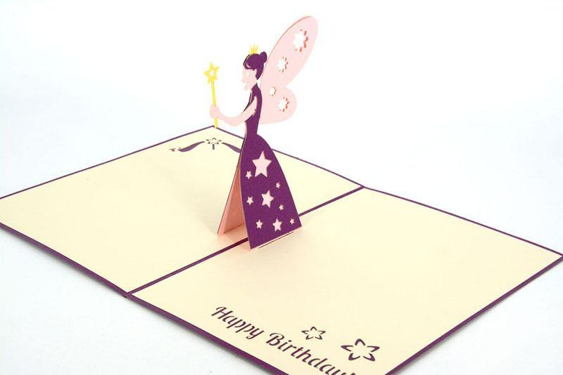 Fairy God Mother Happy Birthday - Henry Pop-Up Cards