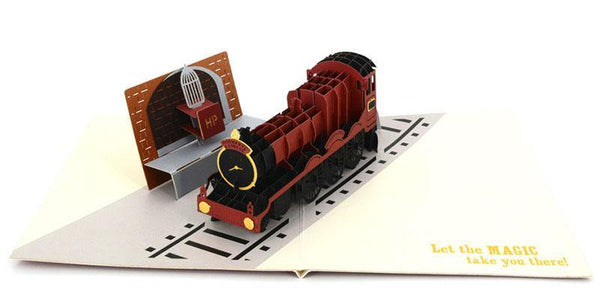 Happy Potter Train Flatform 9 and Three Quarters - Henry Pop-Up Cards