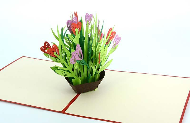 Heart Shape Flower 3D - Henry Pop-Up Cards