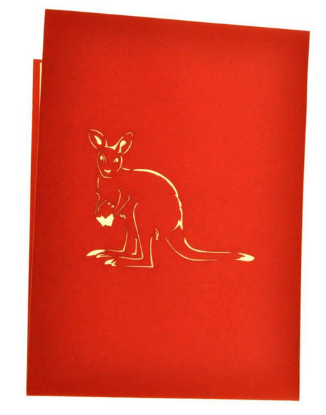 Kangaroo and Baby - Henry Pop-Up Cards