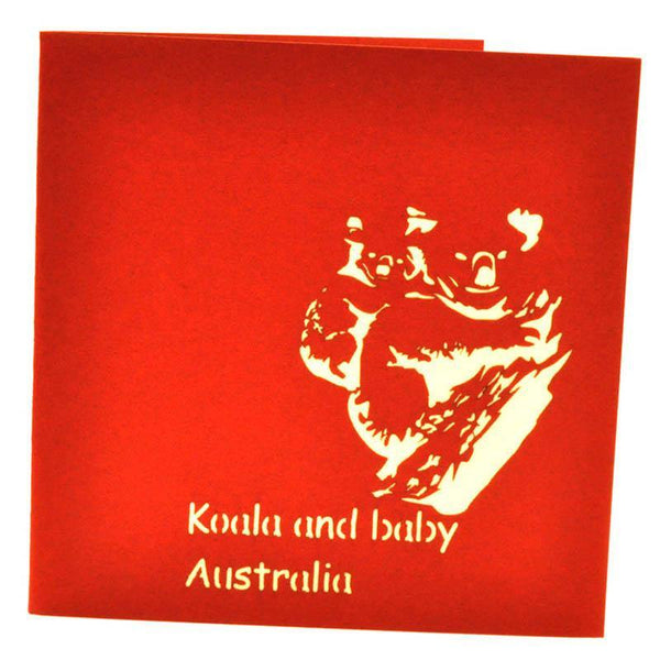 Koalas and Baby - Henry Pop-Up Cards