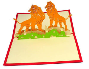 Lions - Henry Pop-Up Cards