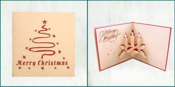 Christmas Candles - Henry Pop-Up Cards
